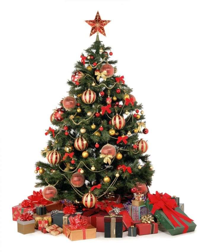albero-di-natale-rosso-e-oro-classico