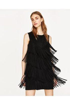 donna-vestiti-zara-abito-frange-scamosciato